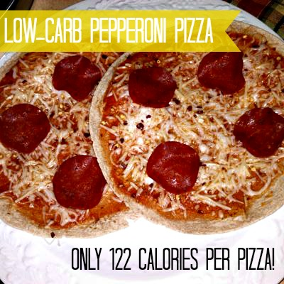 Low carb turkey pepperoni pizza